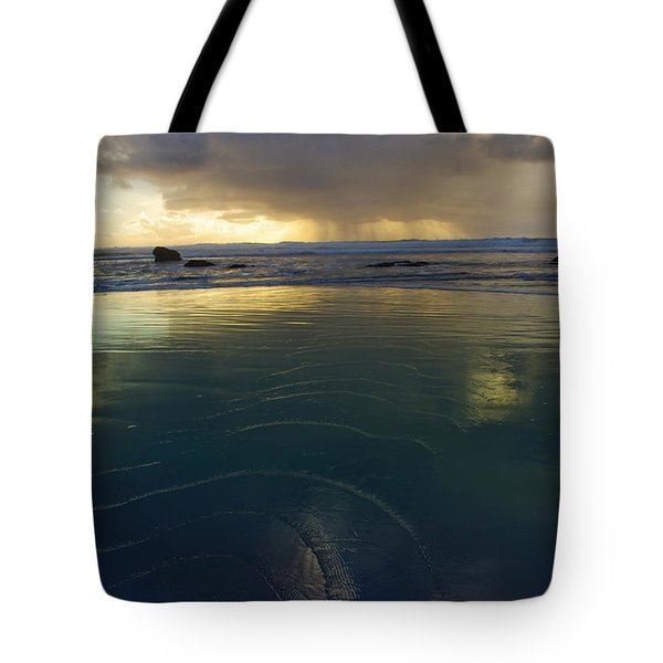 Tote Bag featuring the photograph Faraway Rain by Adria Trail
