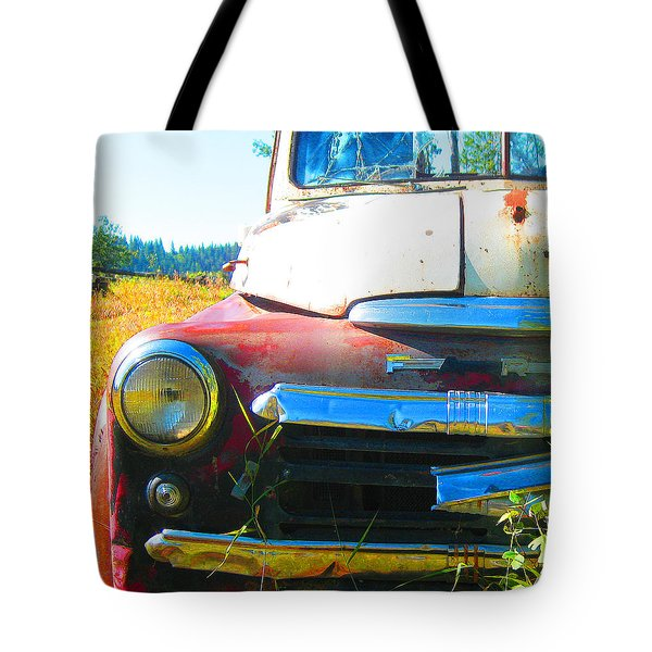 Fargo Red And White Tote Bag