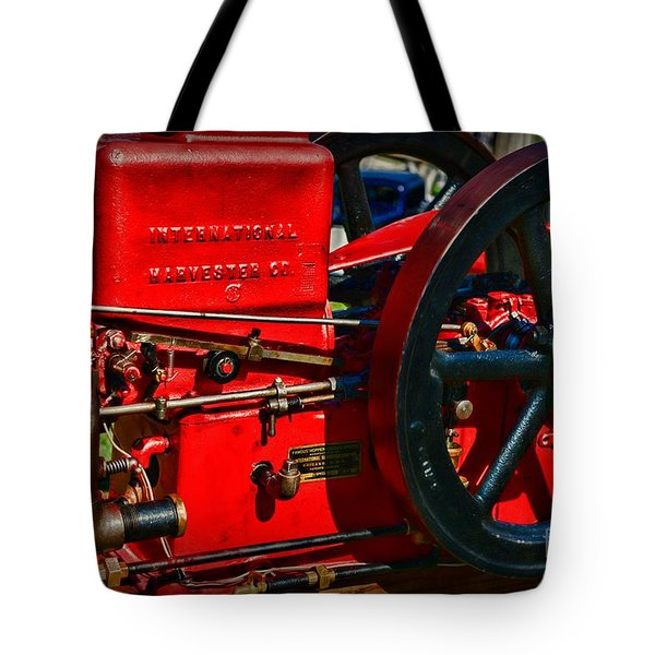 Farm Equipment - International Harvester Feed And Cob Mill Tote Bag by Paul Ward