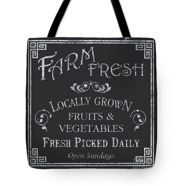 Farm Fresh Sign Tote Bag by Debbie DeWitt