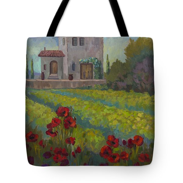 Farm In Sienna Tote Bag by Diane McClary