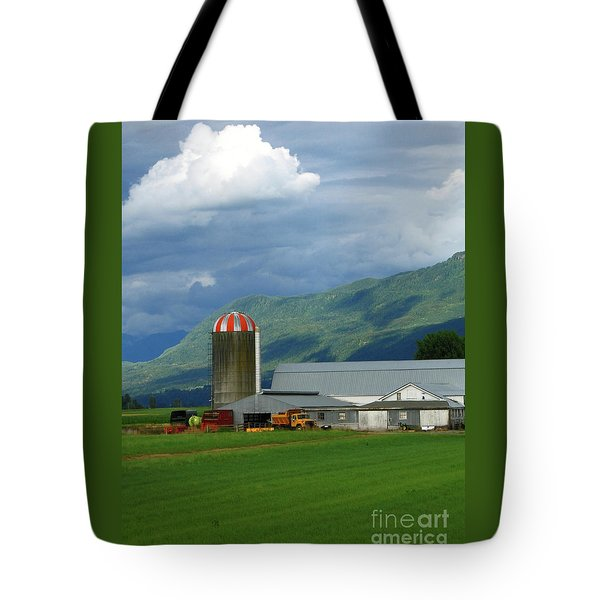 Farm In The Valley Tote Bag by Ann Horn