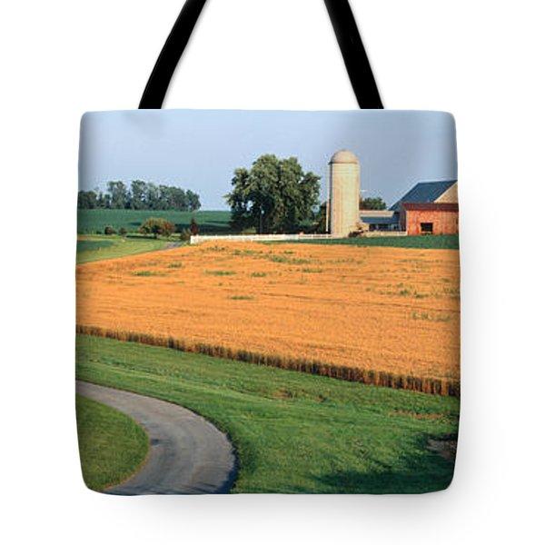 Farm Nr Mountville Lancaster Co Pa Usa Tote Bag