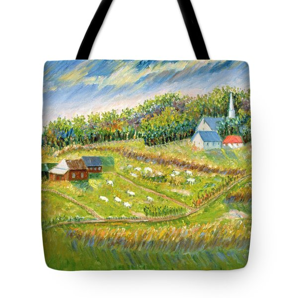 Farm With Sheep Tote Bag by Patricia Eyre