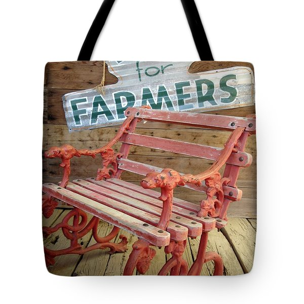 Farmer Bench Tote Bag