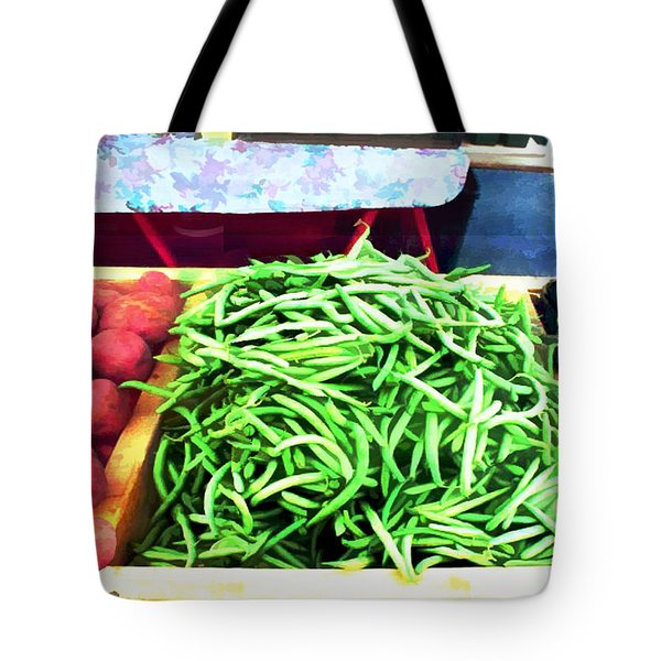 Farmer Salad Bar Tote Bag by Elaine Plesser