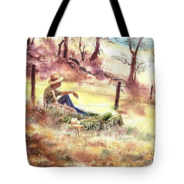 Farmers And Hunters Heaven Tote Bag
