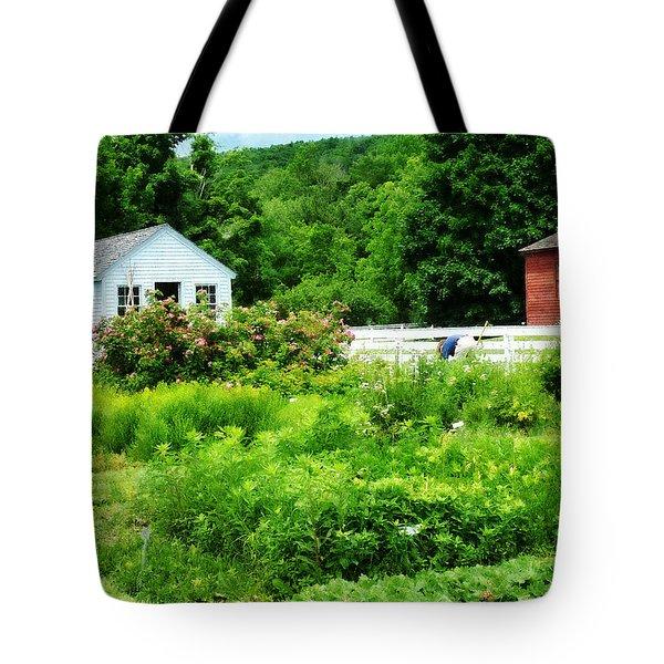 Farmer's Garden Tote Bag by Susan Savad