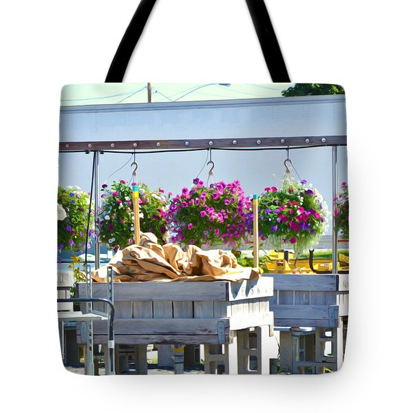 Farmers Market 3 Tote Bag by Lanjee Chee