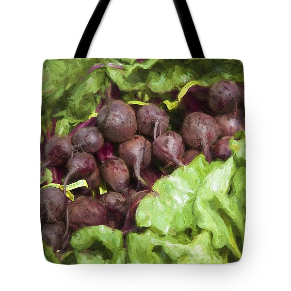Farmers Market Beets And Greens Square Tote Bag