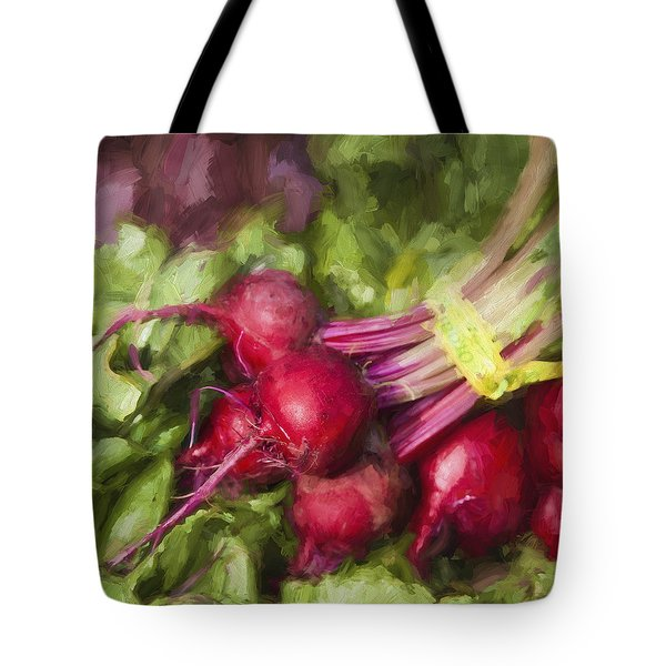 Farmers Market Beets Square Format Tote Bag