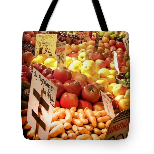 Farmers Market Tote Bag by Karen Wiles