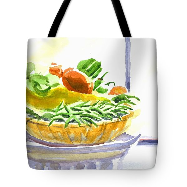 Farmers Market V Summers Harvest In The Window Tote Bag by Kip DeVore