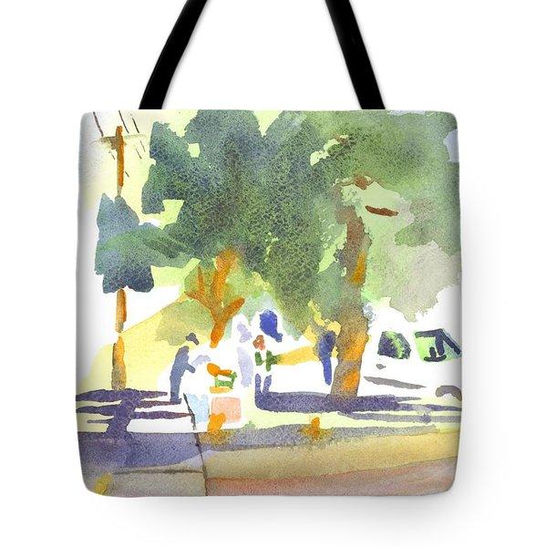 Farmers Market Vi Tote Bag by Kip DeVore