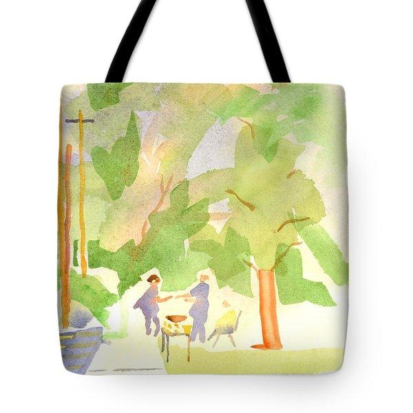 Farmers Market Vll Tote Bag by Kip DeVore