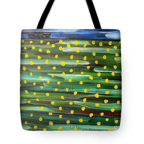 Farmhouse On The Hill Tote Bag by Patrick J Murphy