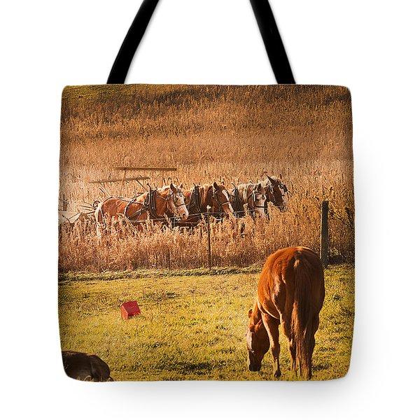 Farming  Modes Of Transportation Tote Bag by Randall Branham