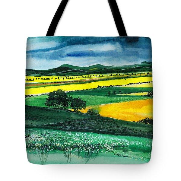 Farmland 1 Tote Bag by Anil Nene