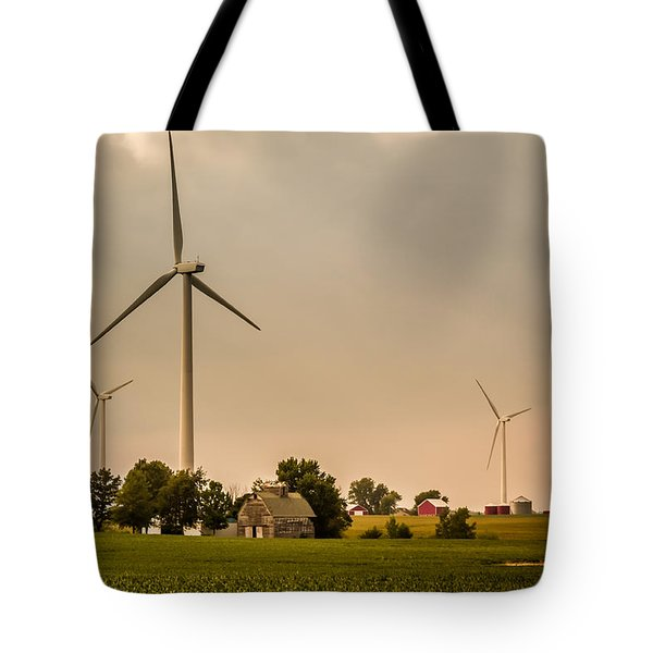 Farms And Windmills Tote Bag