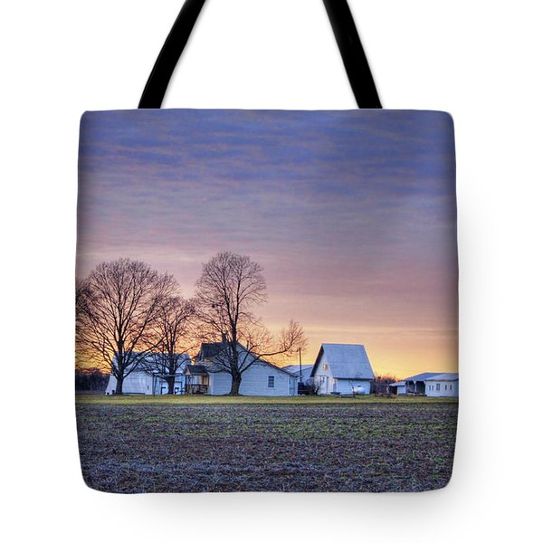 Farmstead At Sunset Tote Bag