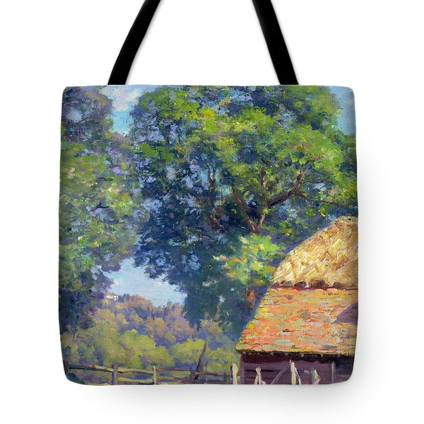 Farmyard With Poultry Tote Bag by Gabriel Edouard Thurner