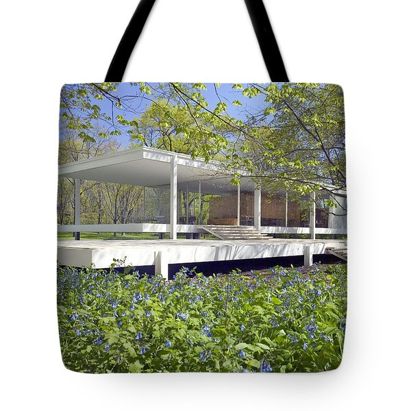 Farnsworth House Illinois Tote Bag by Martin Konopacki