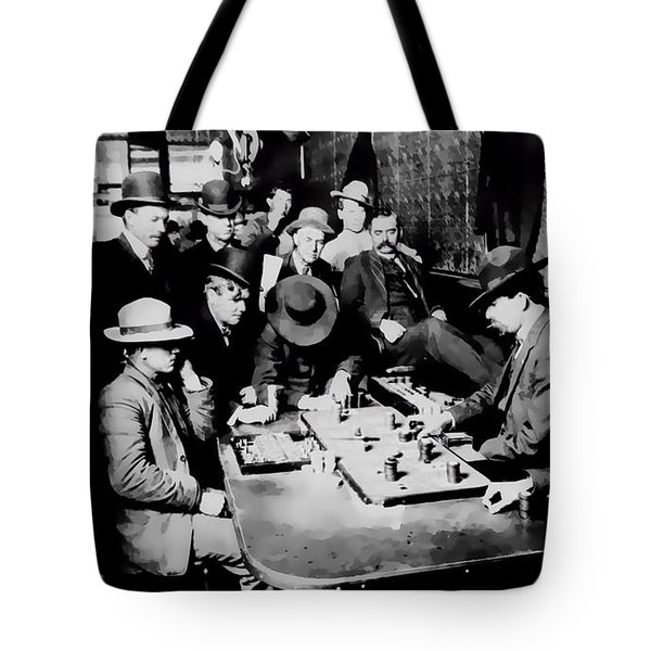 Faro Game Orient Saloon C. 1900 - Arizona Tote Bag