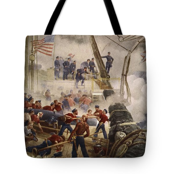 Farragut On The Hartford At Mobile Bay Tote Bag
