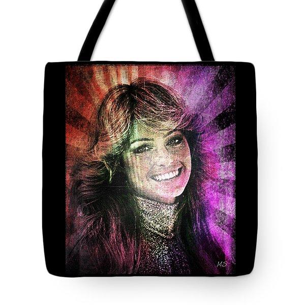 Farrah Fawcett Tote Bag by Absinthe Art By Michelle LeAnn Scott