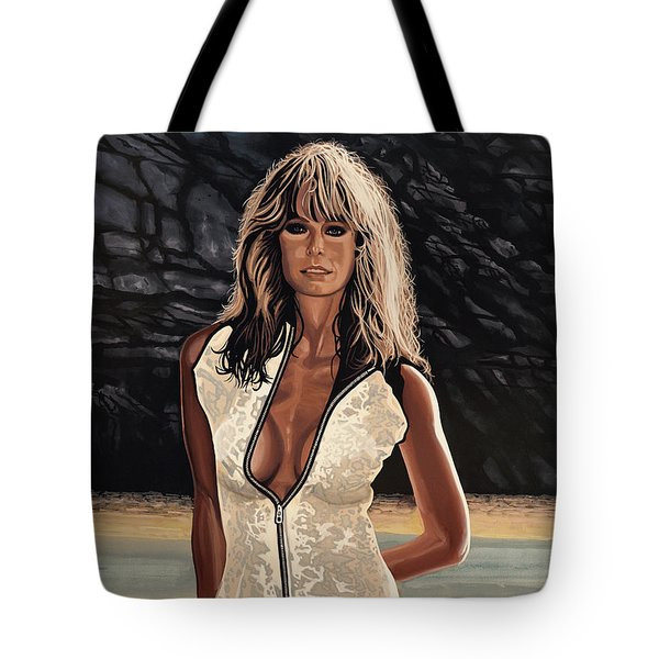 Farrah Fawcett Painting Tote Bag