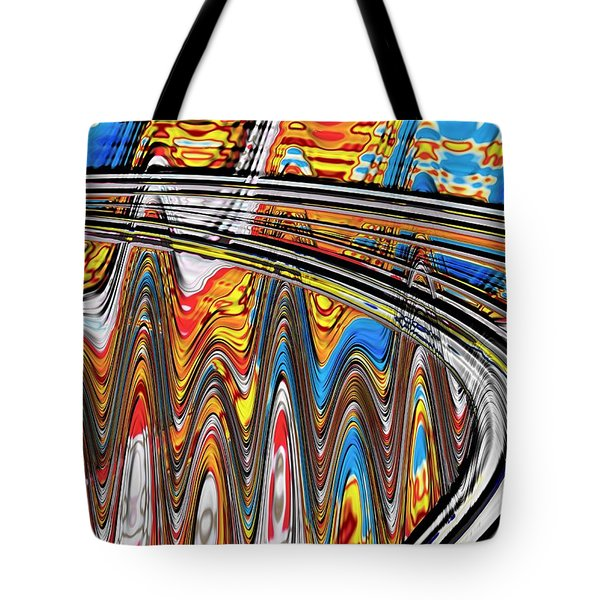 Highway To Nowhere Abstract Tote Bag