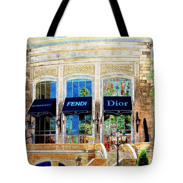 Fashion Vegas Style Tote Bag by Barbara Chichester