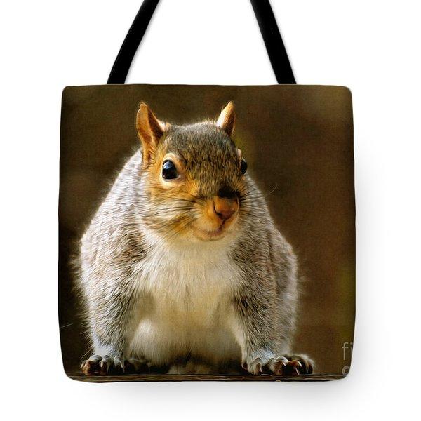Fat 'n Sassy Smile Tote Bag by Lois Bryan