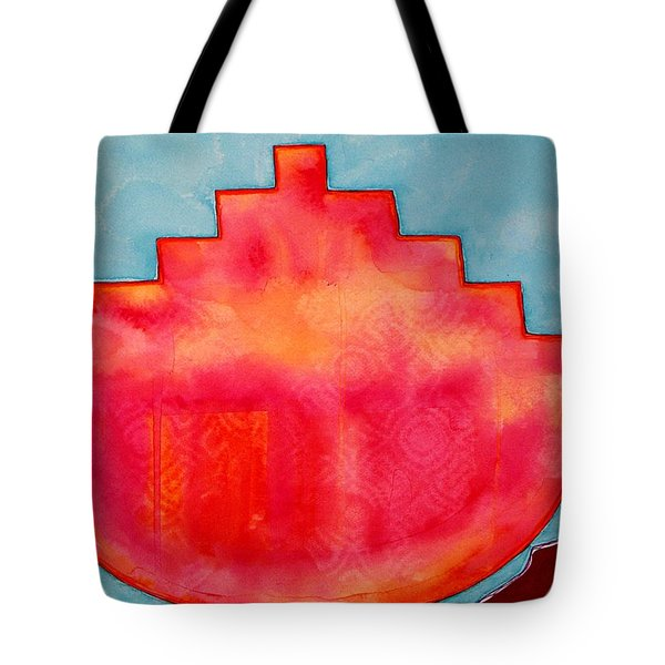 Fat Sunrise Original Painting Tote Bag