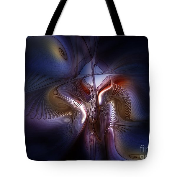 Fateful Nights Fractal Composition Tote Bag