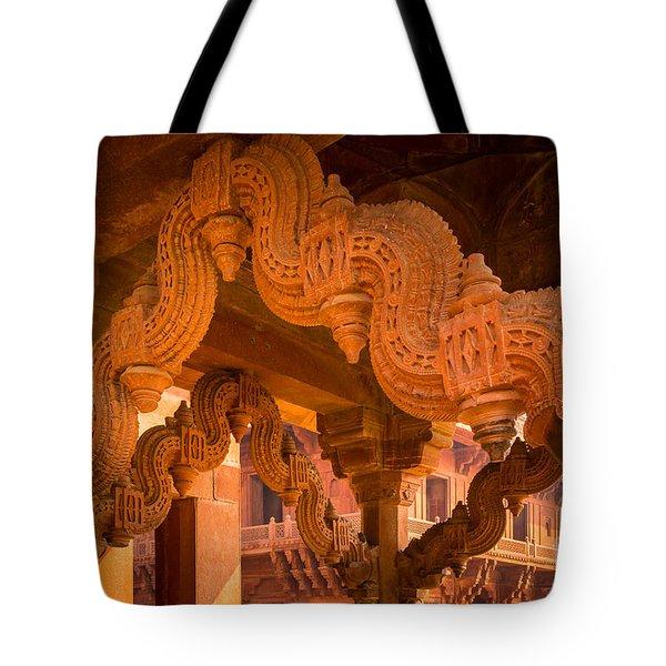 Fatehpur Sikri Detail Tote Bag by Inge Johnsson