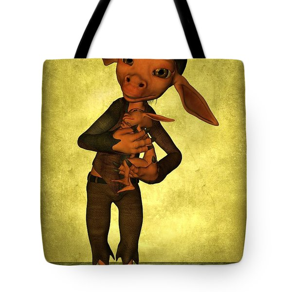 Tote Bag featuring the digital art Father And Son by Gabiw Art