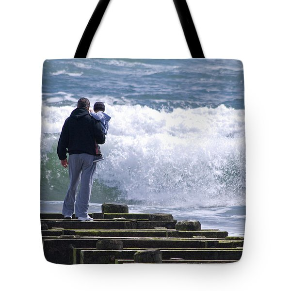 Tote Bag featuring the photograph Father And Son by Greg Graham