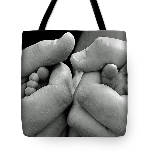 Father And Son Tote Bag by Lisa Phillips