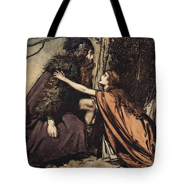 Father Father Tell Me What Ails Thee With Dismay Thou Art Filling Thy Child Tote Bag by Arthur Rackham