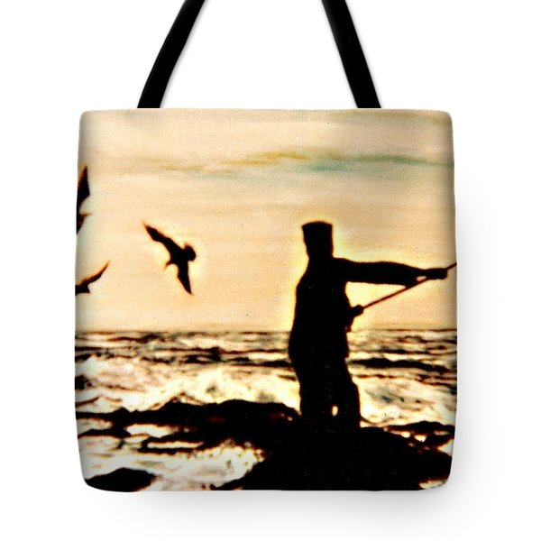 Father Fisherman Tote Bag by Desline Vitto