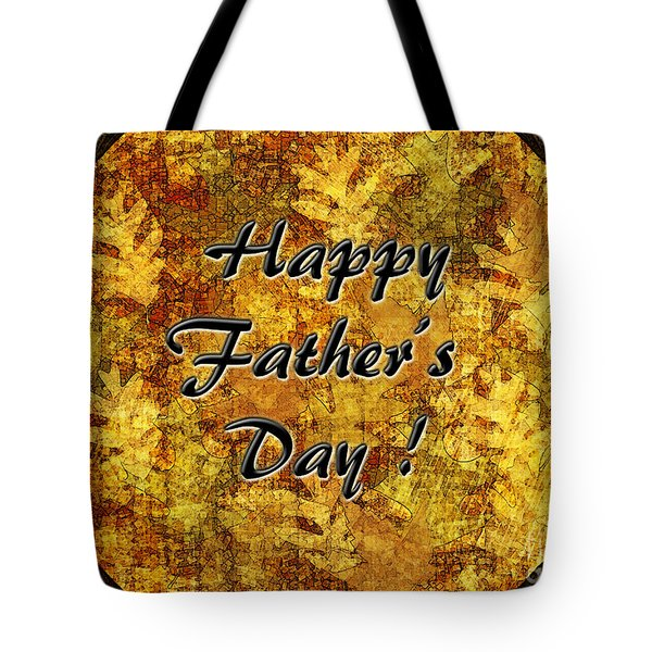 Father's Day Greeting Card I Tote Bag by Debbie Portwood