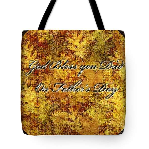 Father's Day Greeting Card IIi Tote Bag by Debbie Portwood