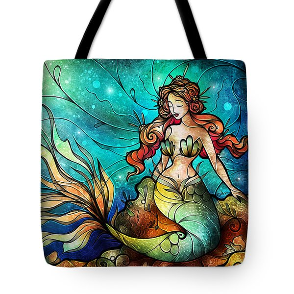 Fathoms Below Triptych Tote Bag