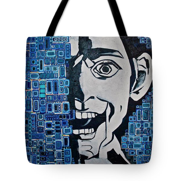 Tote Bag featuring the painting Fats And The Raven by Donna Howard