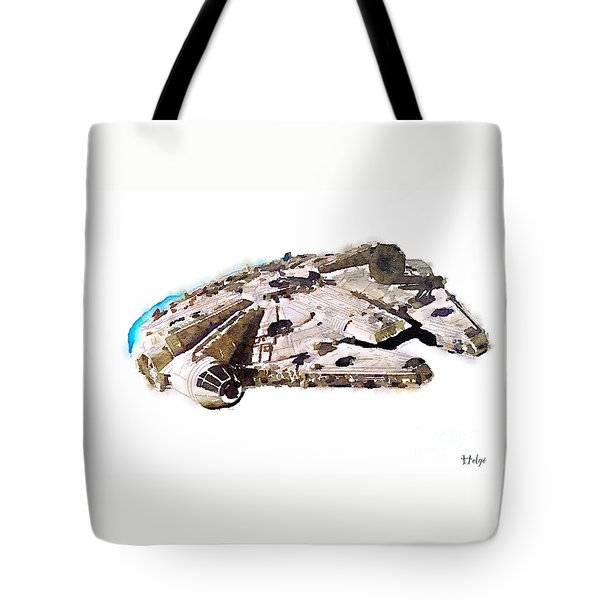 Tote Bag featuring the painting Millenium Falcon by Helge