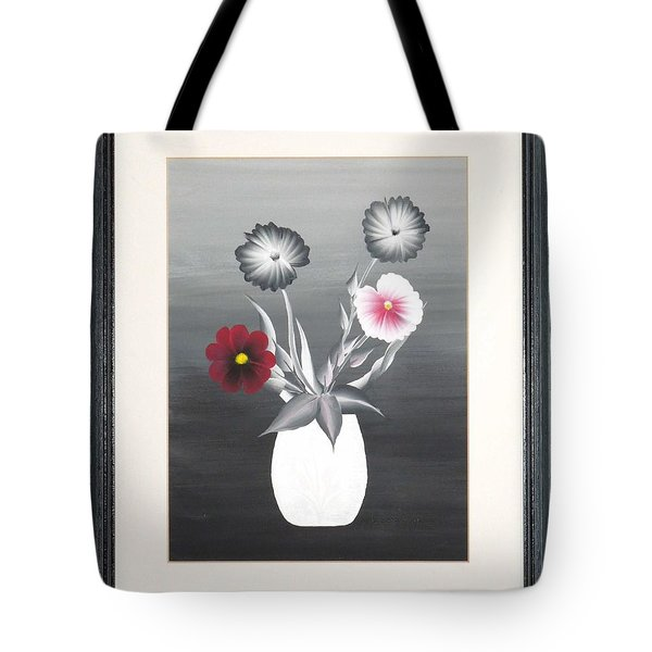 Faux Flowers II Tote Bag by Ron Davidson