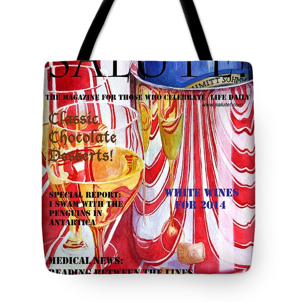 Tote Bag featuring the painting Faux Magazine Cover by Mariarosa Rockefeller