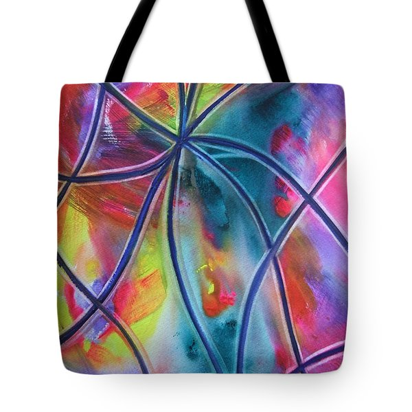 Faux Stained Glass 1 Tote Bag