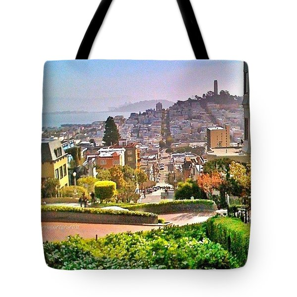 Favorite Places Lombard Street San Francisco California Tote Bag